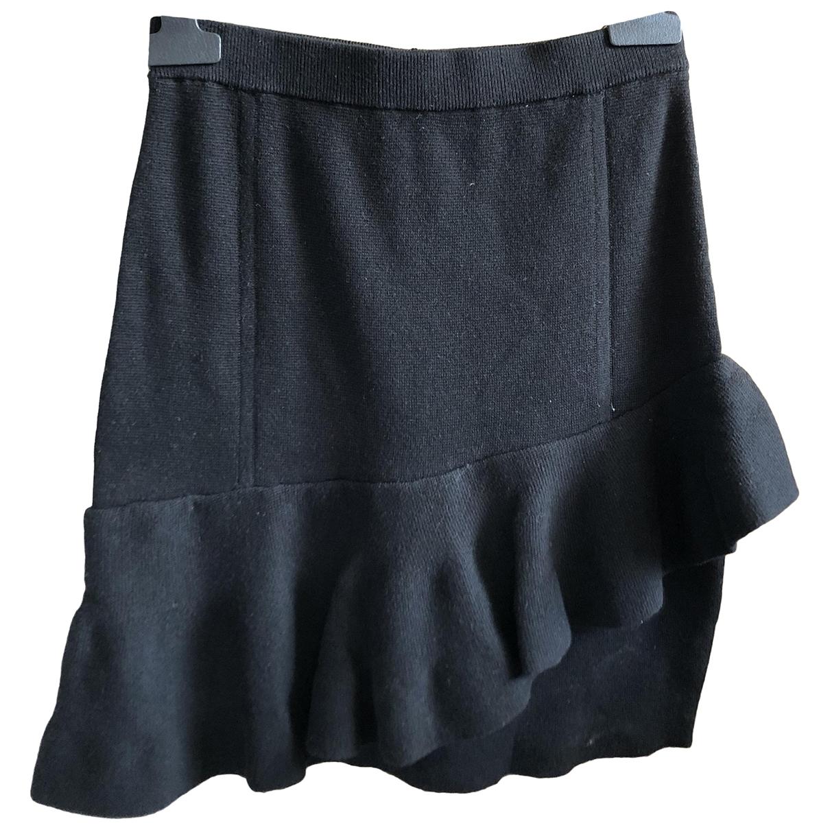 Sandro - Jupe   pour femme en coton - elasthane - noir