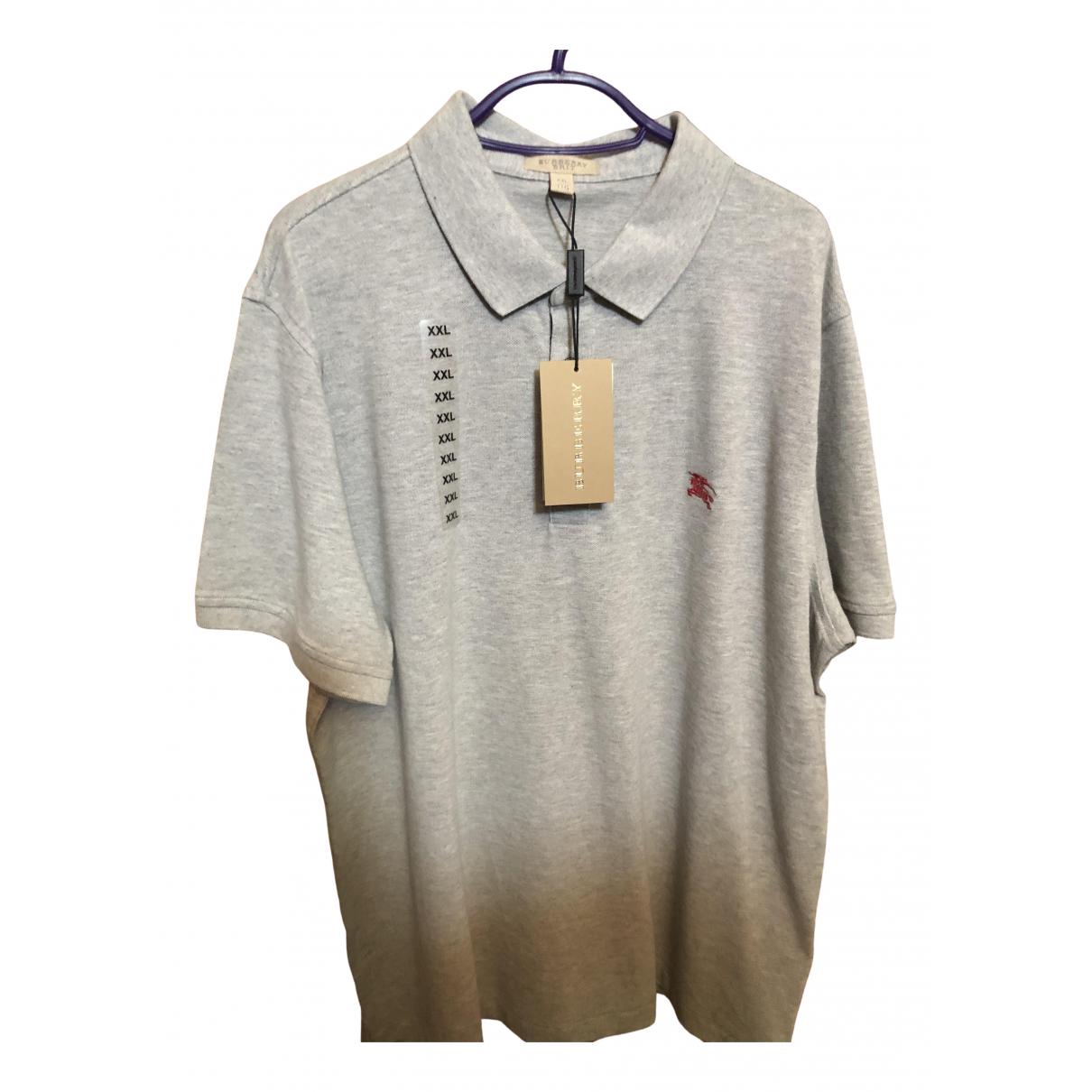 Burberry \N Grey Cotton Polo shirts for Men XXL International