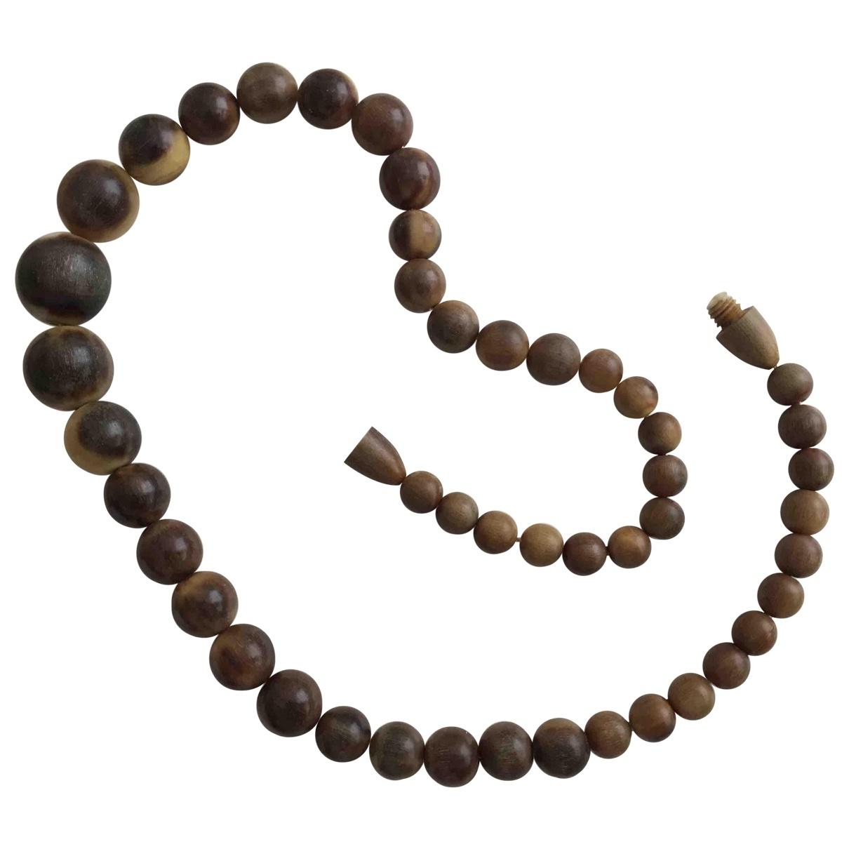 - Collier Motifs Ethniques pour femme en corne - marron