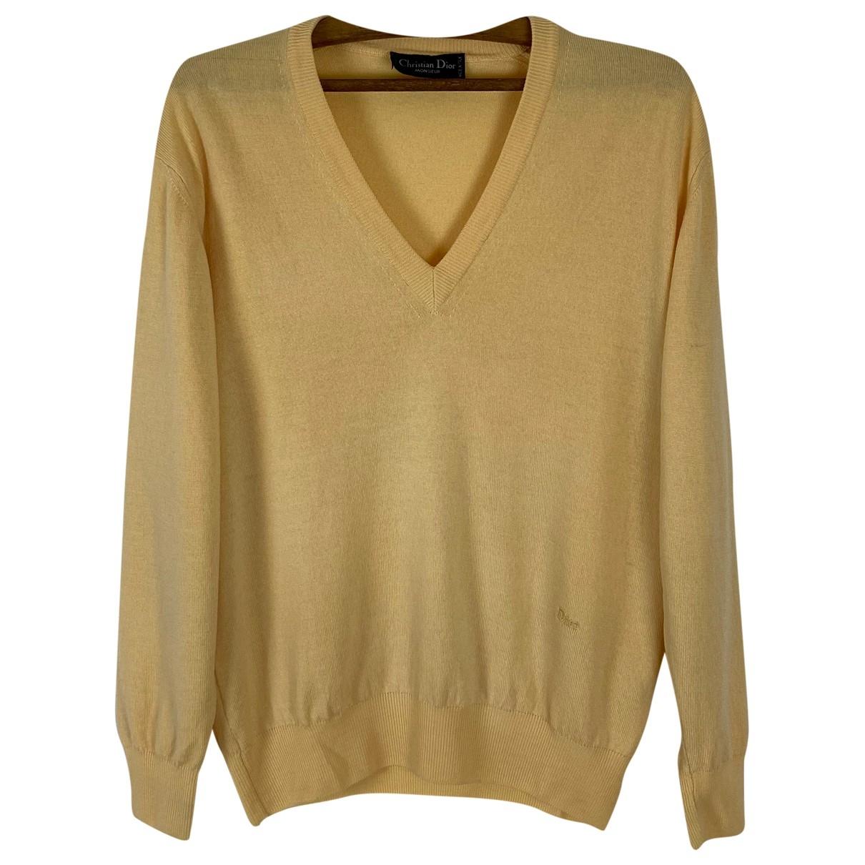 Dior \N Pullover.Westen.Sweatshirts  in  Gelb Wolle
