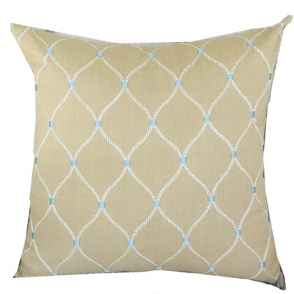 Abby  Collection PBRAZ186-2026-DP Double sided  20 x 26 Standard Plutus Abby  Taupe White and Blue Handmade Luxury