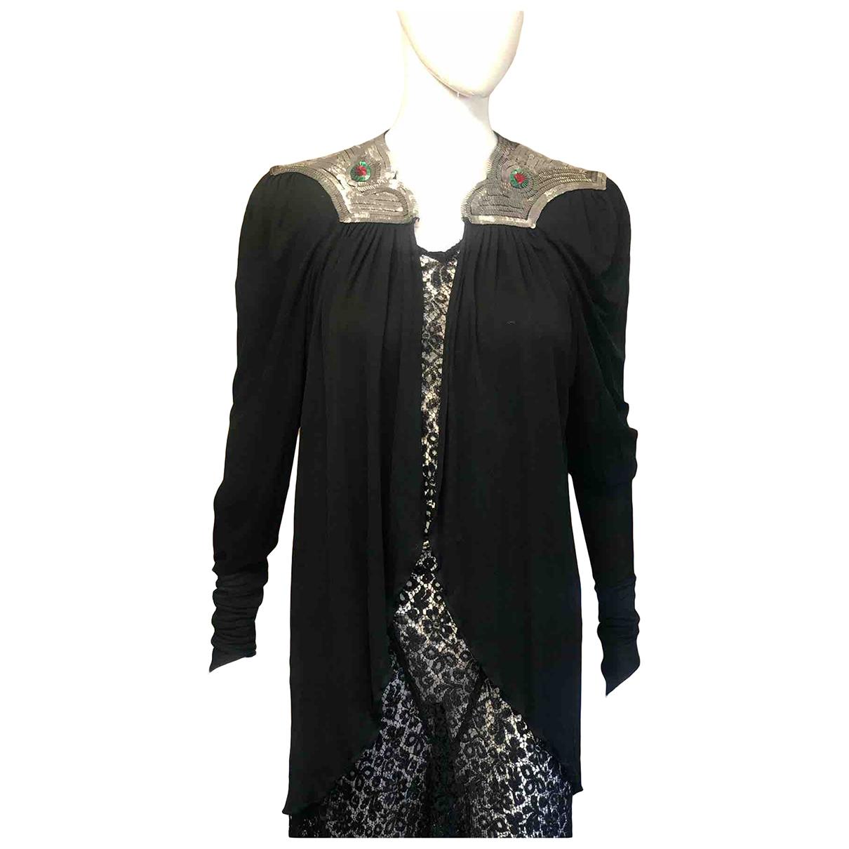 Ossie Clark \N Kleid in  Schwarz Synthetik