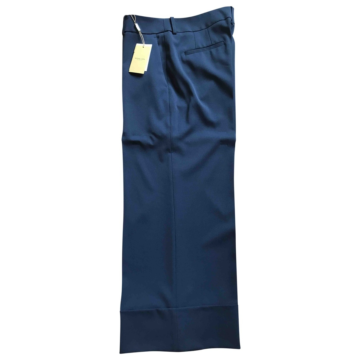 Michael Kors \N Navy Cotton Trousers for Women 10 UK