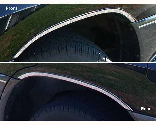 Quality Automotive Accessories 4-Piece Stainless Steel Wheel Well Fender Trim Kit Lexus LX Series 2005