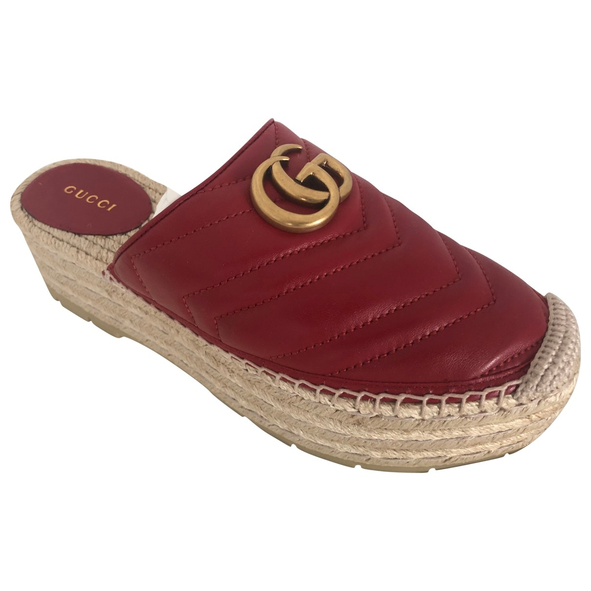 Gucci \N Red Leather Espadrilles for Women 37 EU