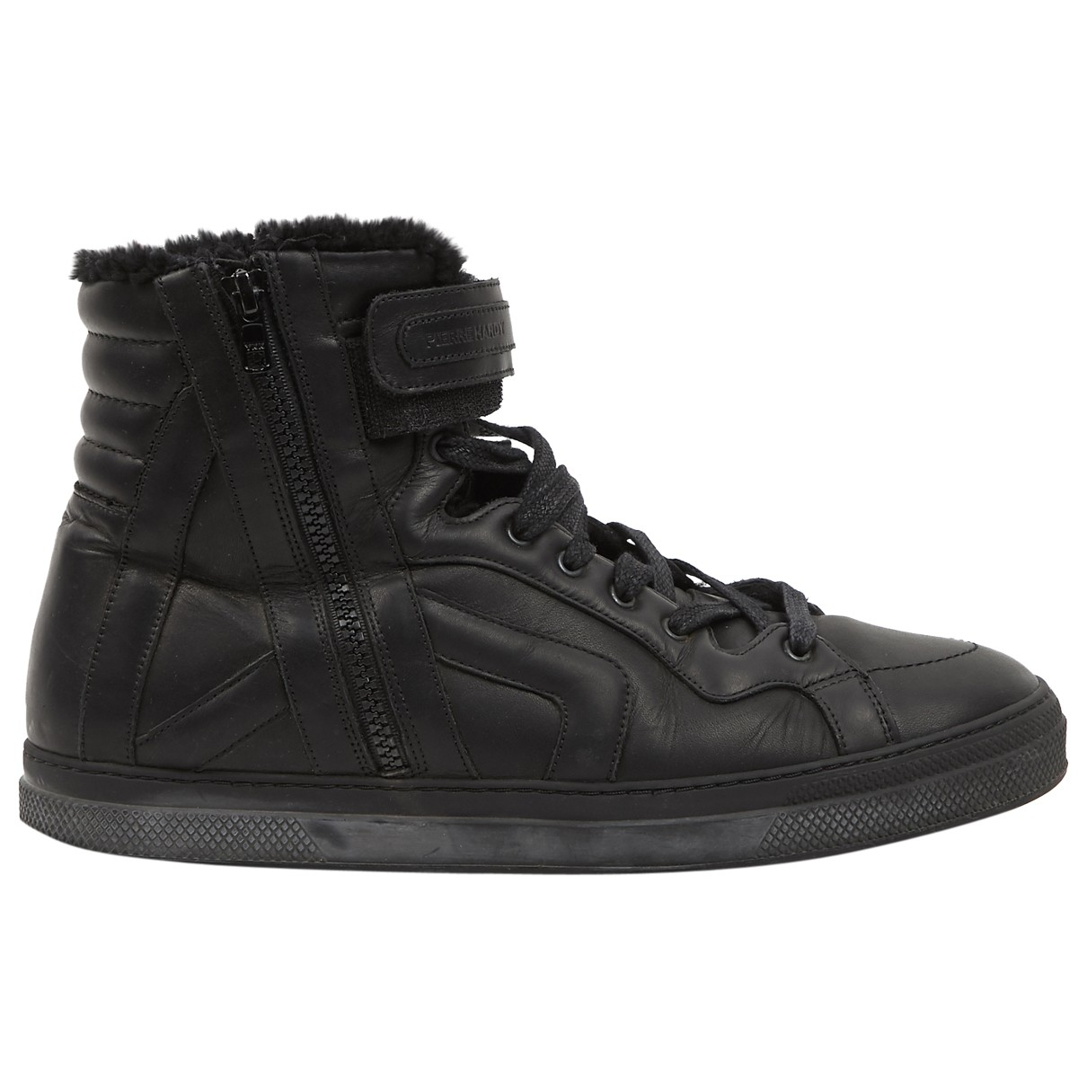 Pierre Hardy \N Black Leather Trainers for Men 43 EU