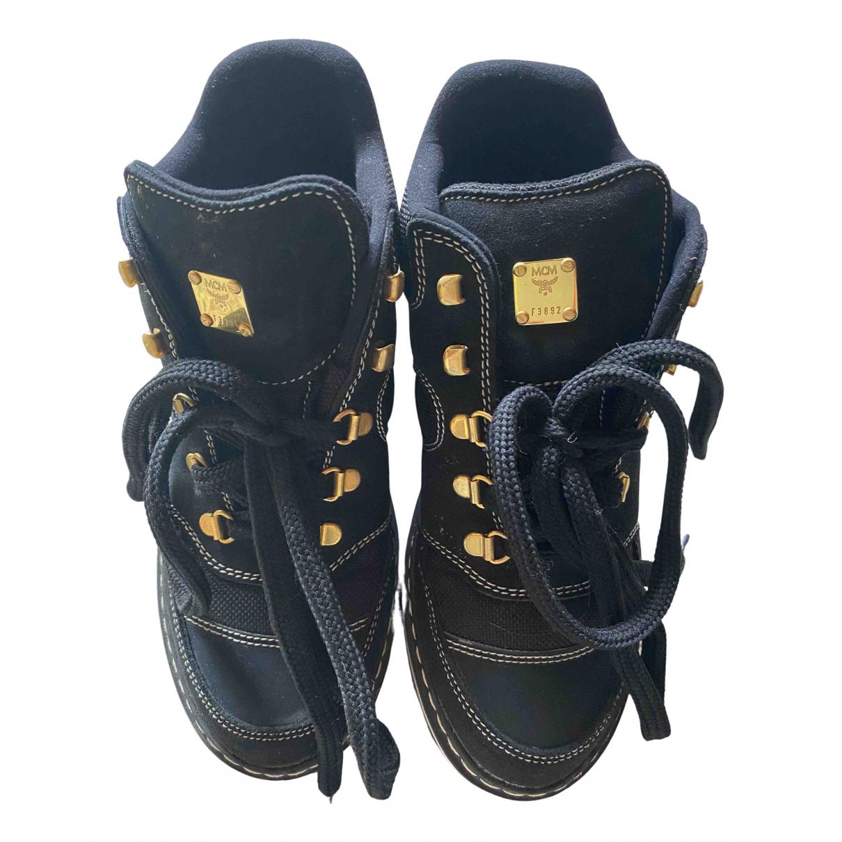 Mcm \N Sneakers in  Schwarz Leder