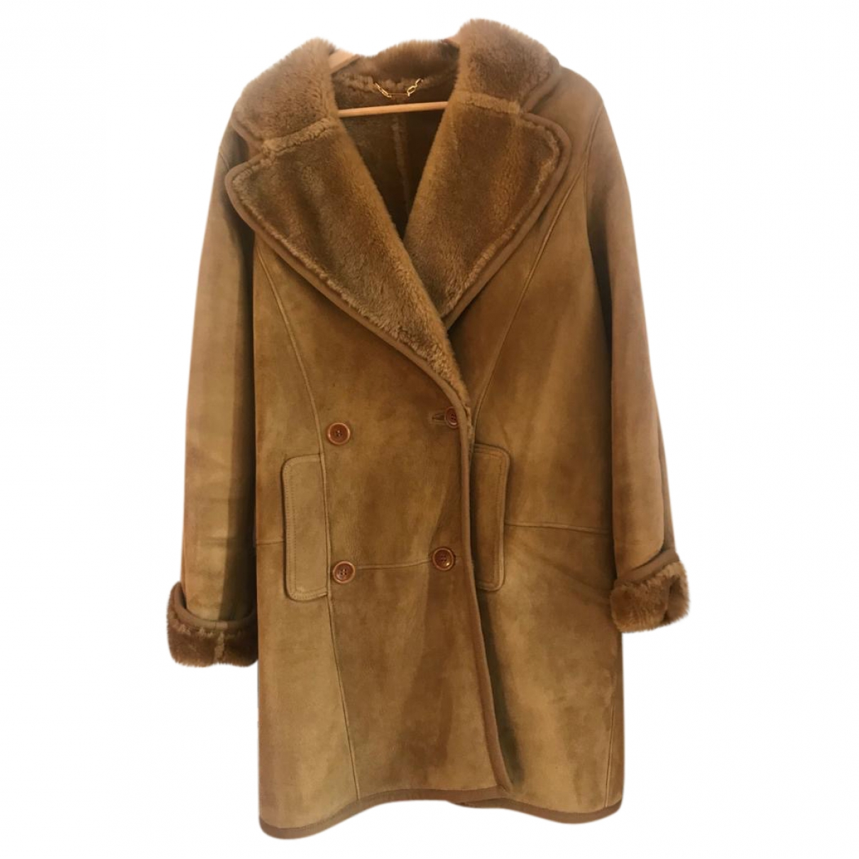 Loewe \N Camel Shearling coat for Women 48 IT