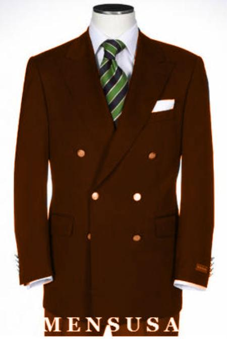 Double Breasted Blazer With Best Cut and Fabric Sport Brown jacket