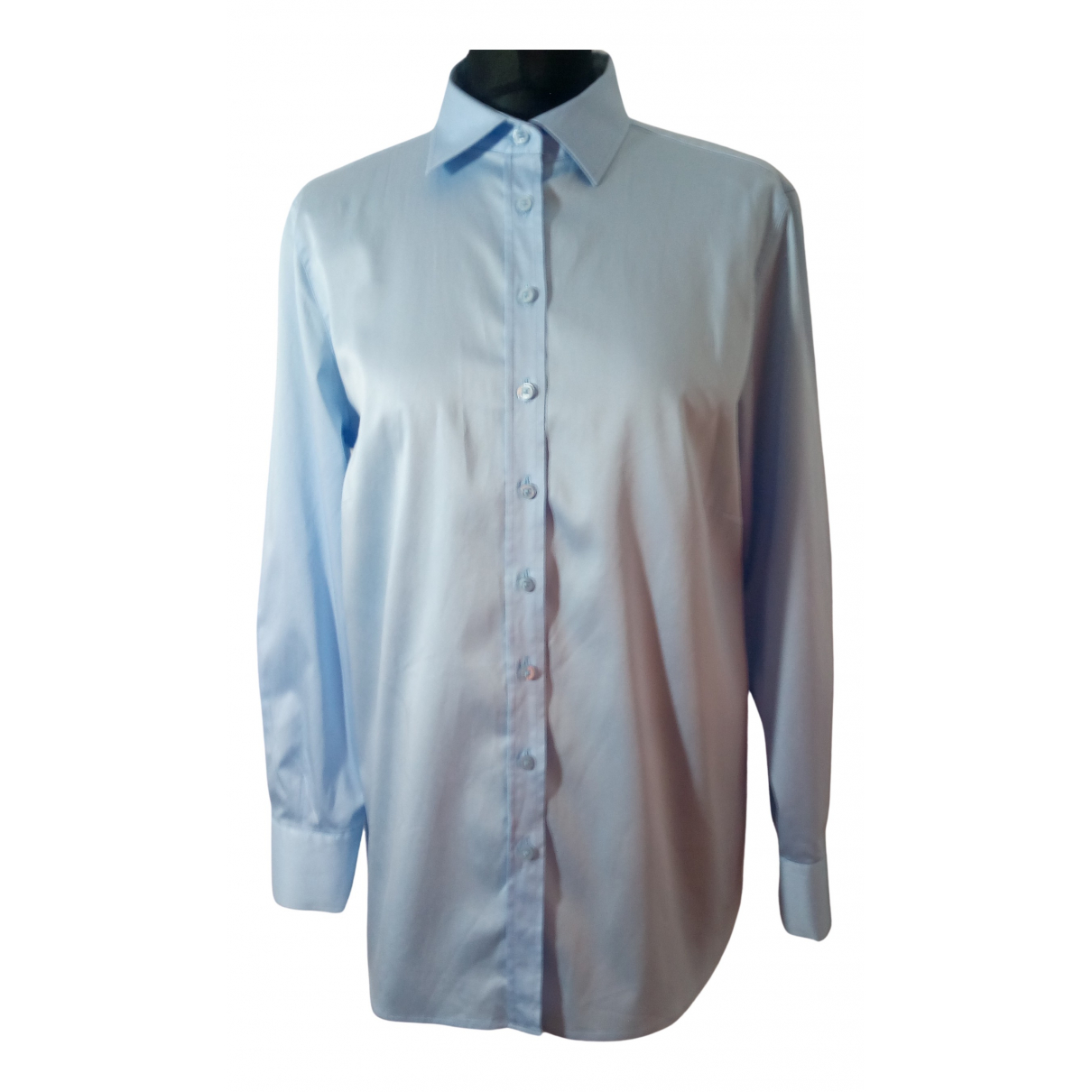 Eterna - Top   pour femme en coton - bleu