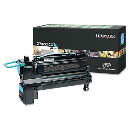 Lexmark X792 X792X1CG Original Cyan Return Program Toner Cartridge Extra High Yield