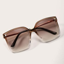 Square Frame Sunglasses With Case