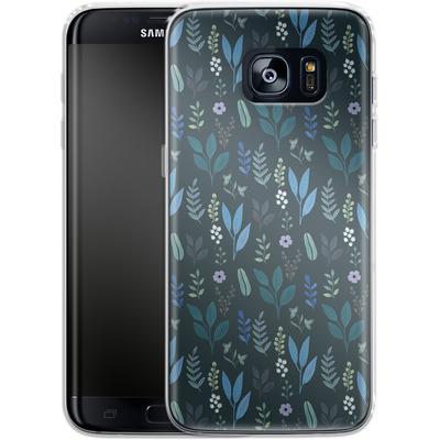 Samsung Galaxy S7 Edge Silikon Handyhuelle - Blue Foliage von Iisa Monttinen