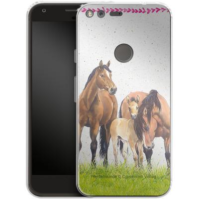 Google Pixel Silikon Handyhuelle - Pferdefreunde Familie von Pferdefreunde