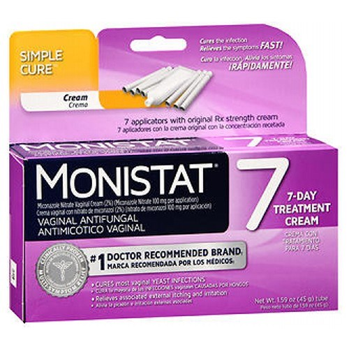 MONISTAT Vaginal Antifungal Cream with Disposable Applicators 7 Each by Emerson Healthcare Llc