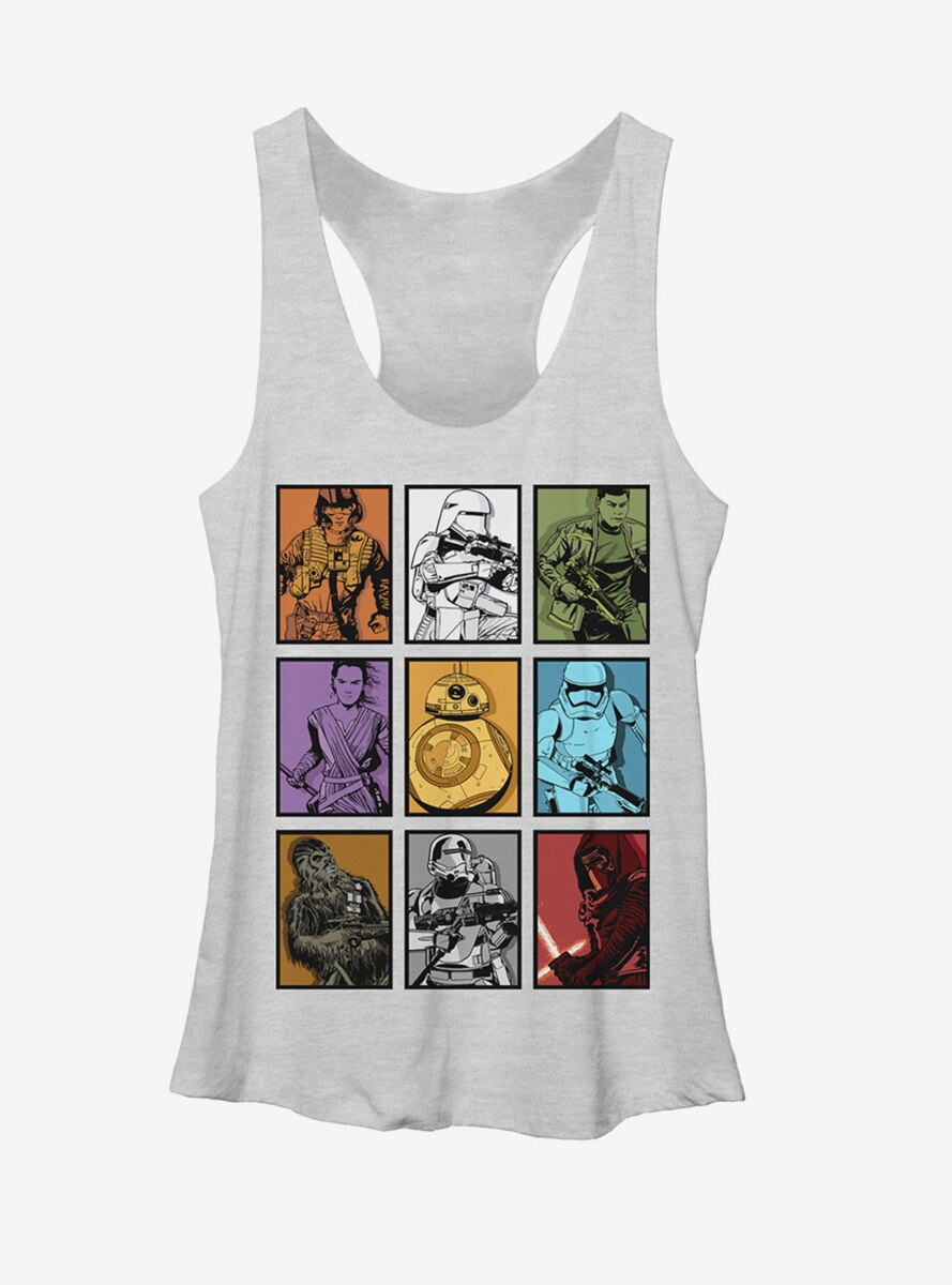 Star Wars Rey and BB-8 Character Boxes Womens Tank