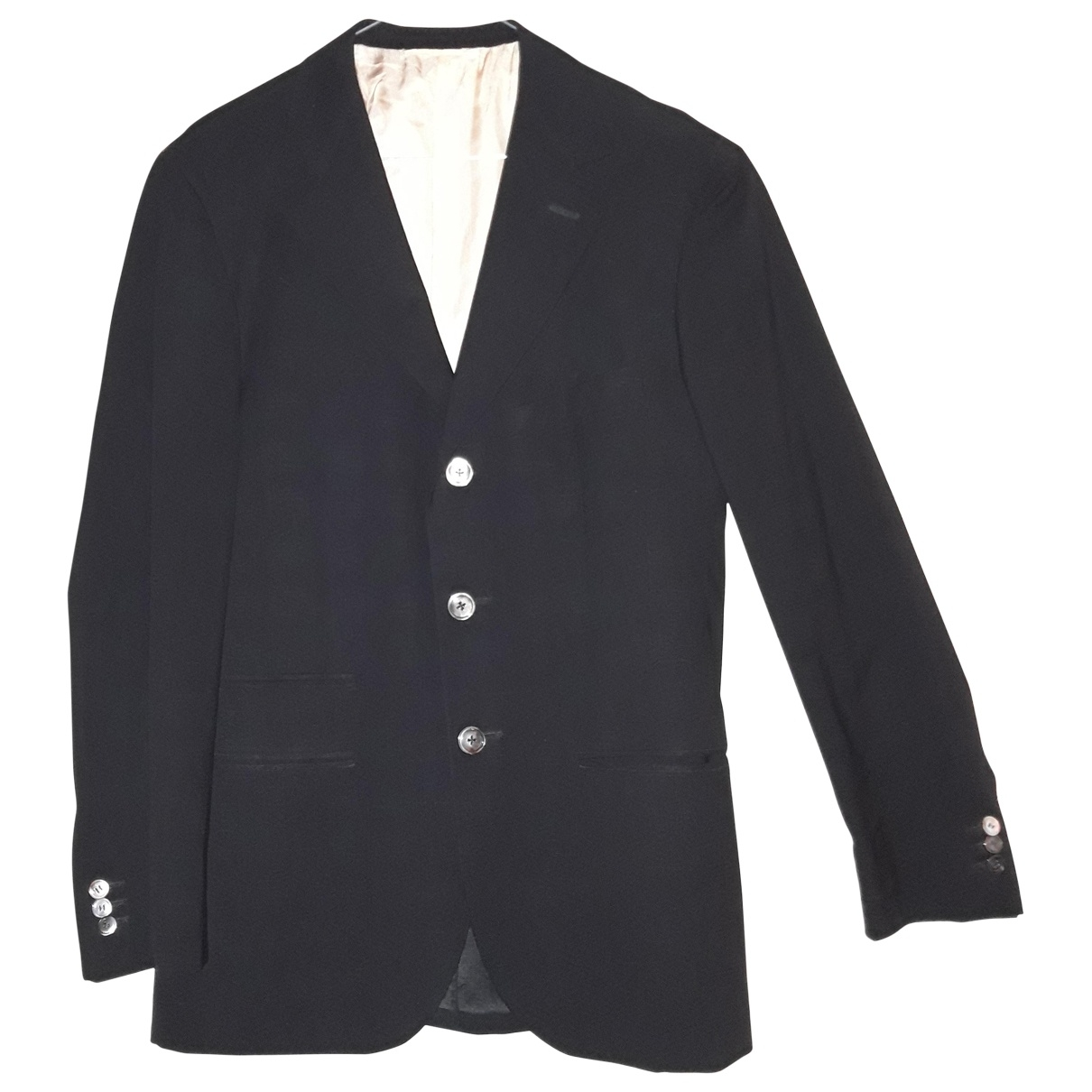 Non Signé / Unsigned \N Black Wool Suits for Men 48 IT