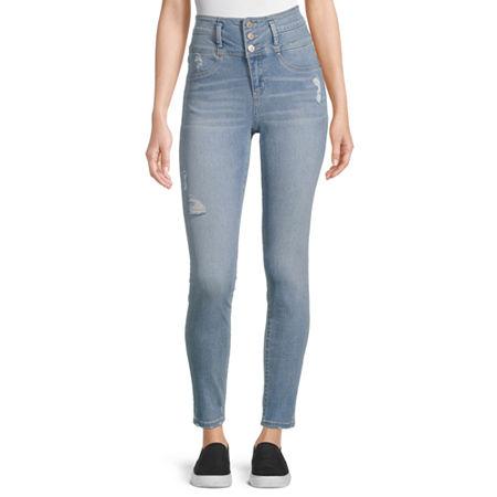 Rewash - Juniors Womens High Rise Skinny Fit Jean, 11 , Blue