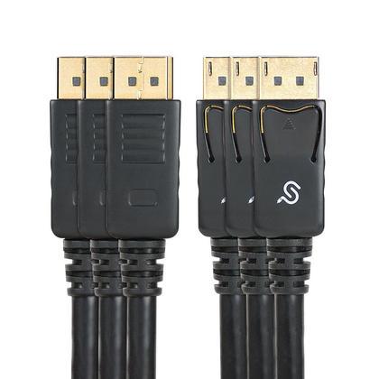 (Lot de 3) PrimeCables® Câble DisplayPort 1.2 28AWG mâle vers mâle haut de gamme Support 4K 10' noir