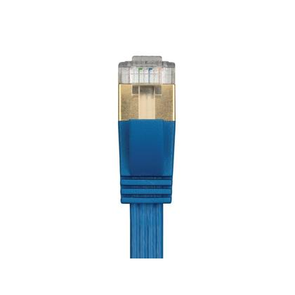 SlimRun� Cat6A 36AWG S/STP Ethernet Patch Cable - Bleu - Monoprice� - 3ft