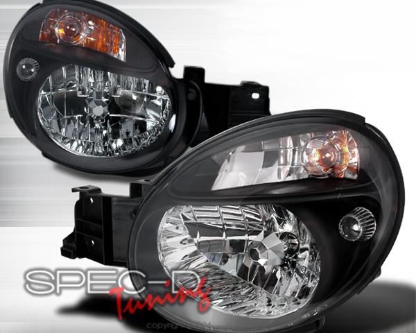 SpecD Black Housing Headlights Subaru WRX 02-03