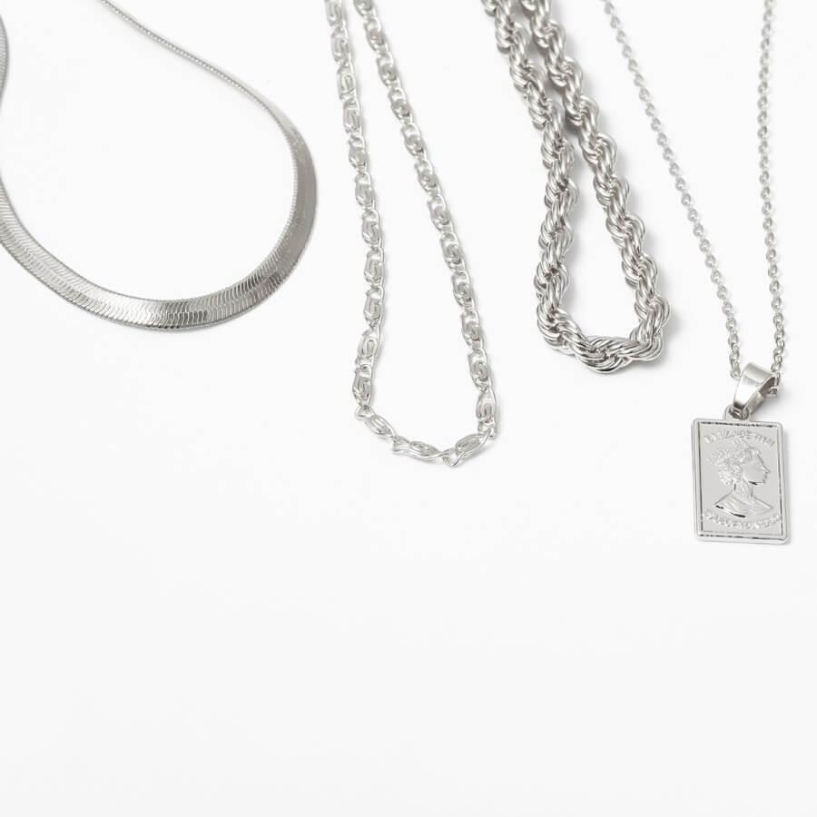 LW Lovely Stylish 3-piece Silver Body Chain