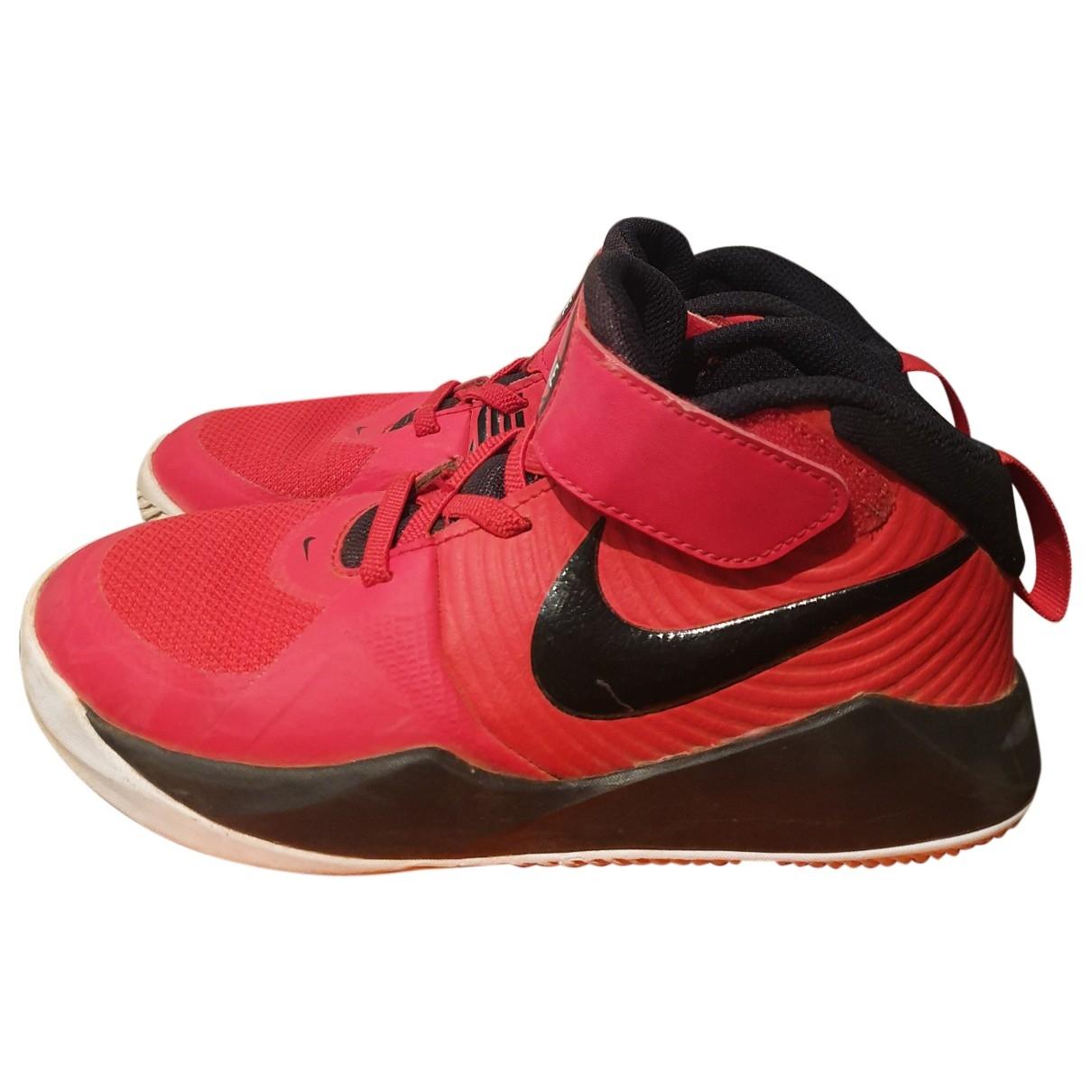 Nike - Baskets   pour enfant en toile - rouge