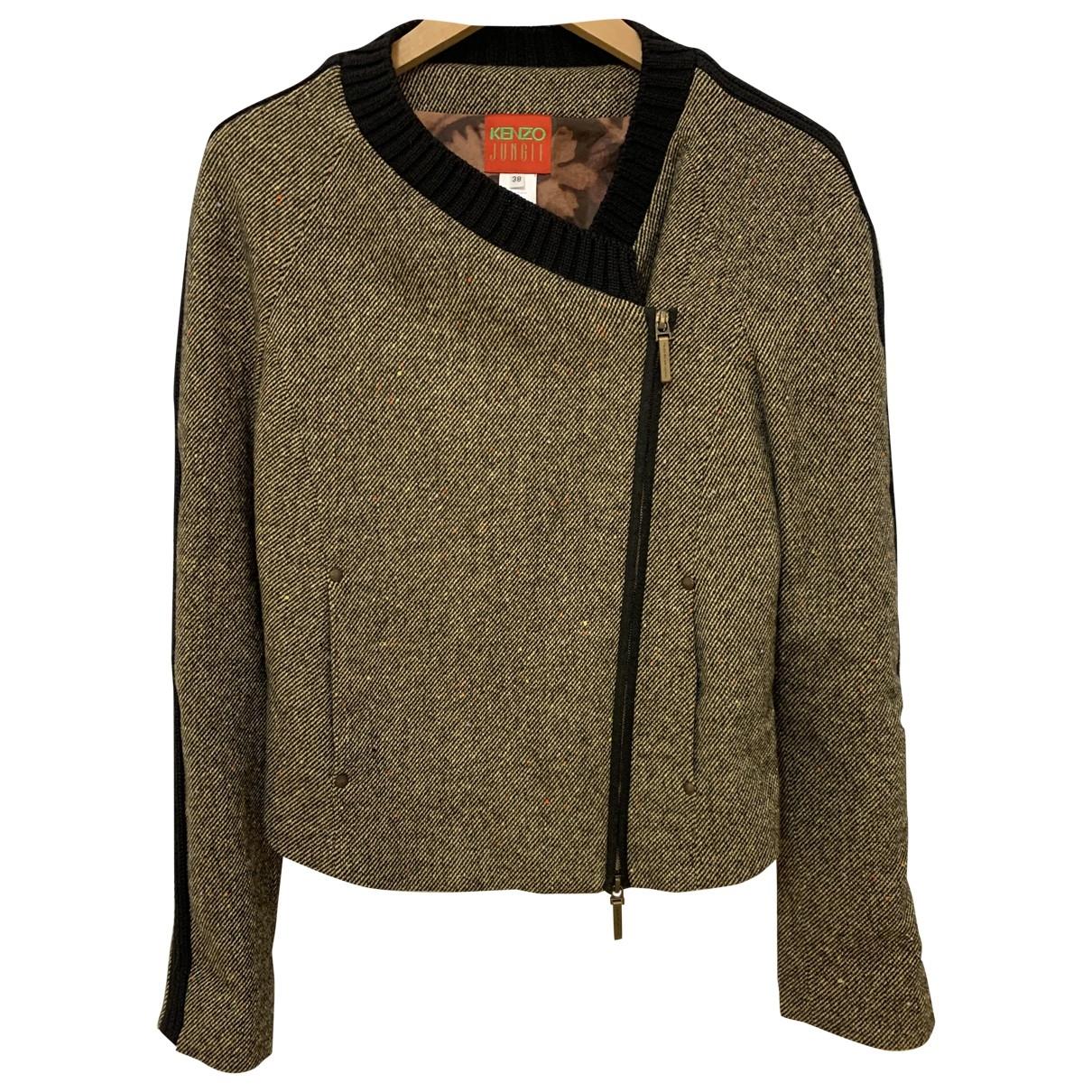 Kenzo - Blouson   pour femme en laine - marron