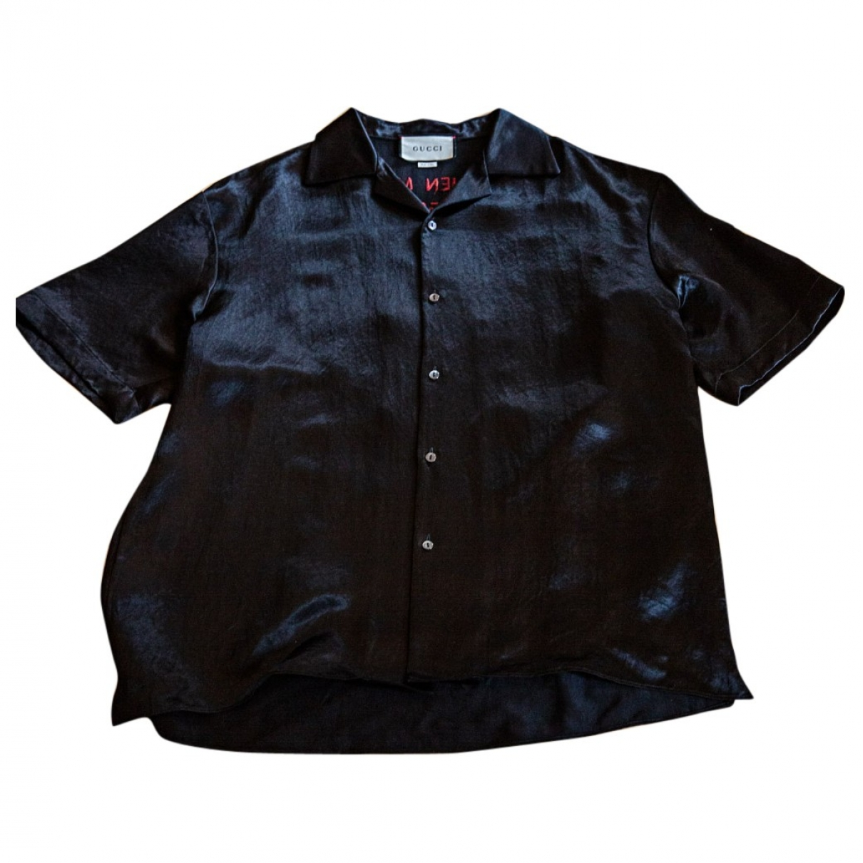 Gucci \N Black Silk Shirts for Men M International