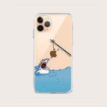 1 pieza funda de iphone con dibujos animados
