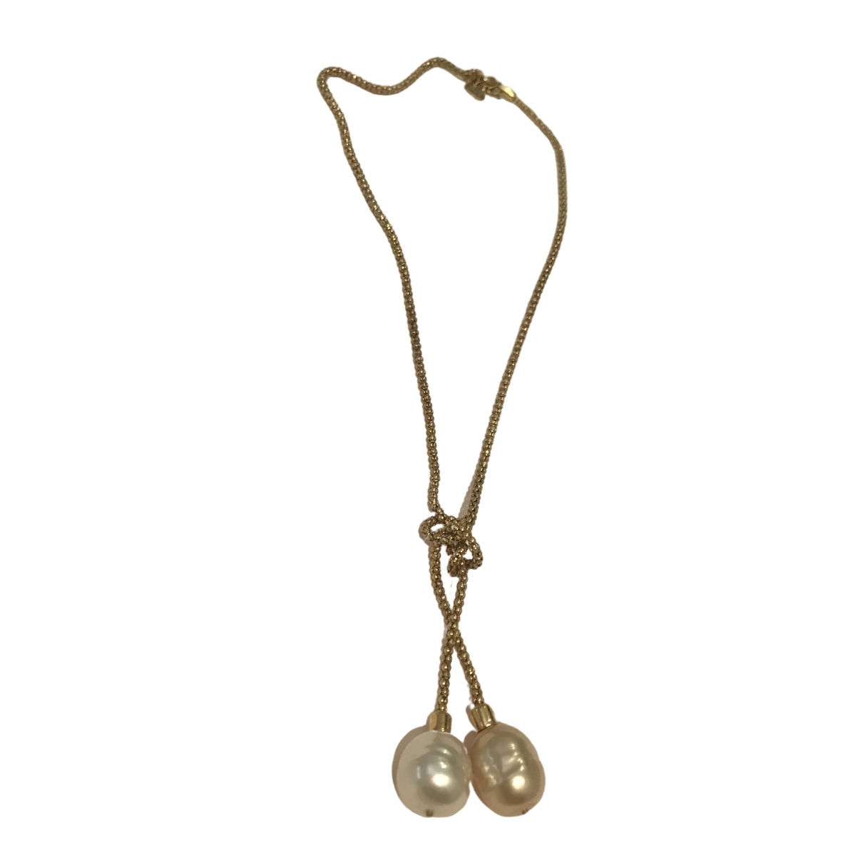 Non Signé / Unsigned \N Beige Pearls necklace for Women \N