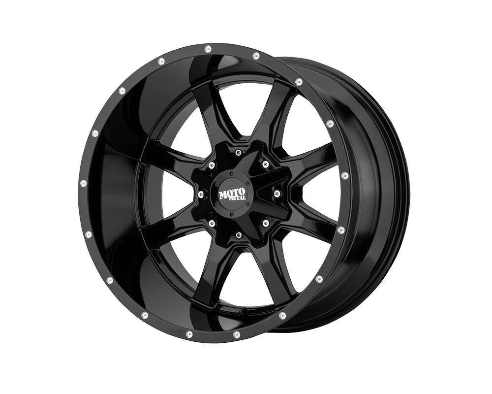 Moto Metal MO970810803A24N MO970 Wheel 18x10 8x8x165.1 -24mm Gloss Black w/Milled Lip