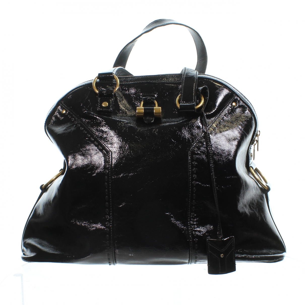 Yves Saint Laurent Muse Black Patent leather handbag for Women \N