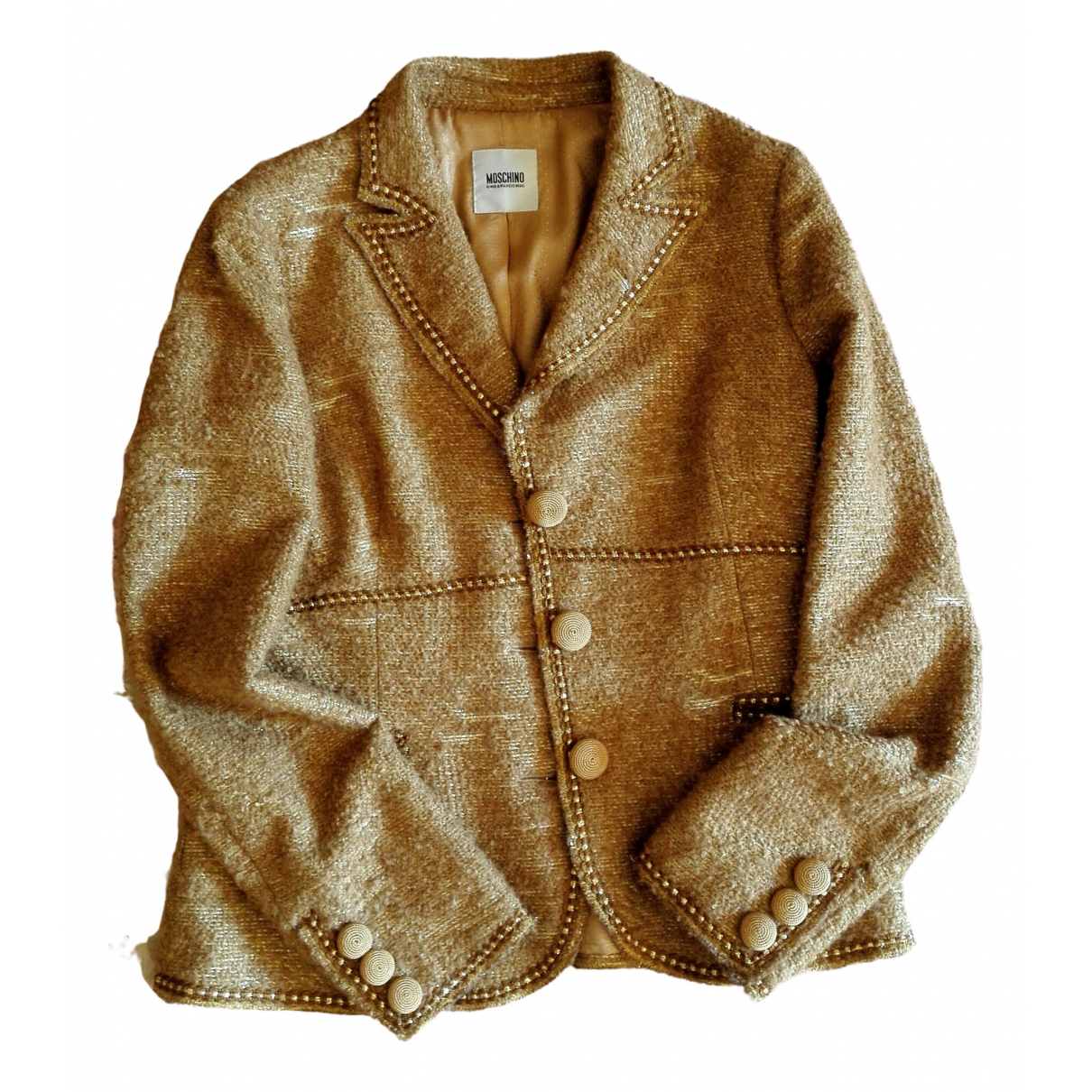 Moschino Cheap And Chic \N Jacke in  Gold Wolle