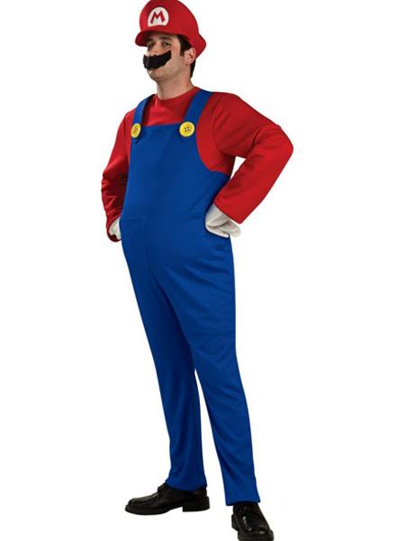 Milanoo Super Mario Bros Mario Cosplay Costume Halloween Waluigi Costume
