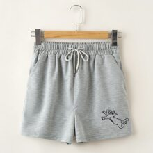 Angel Graphic Track Shorts