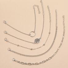 2pcs O-ring Chain Bracelet