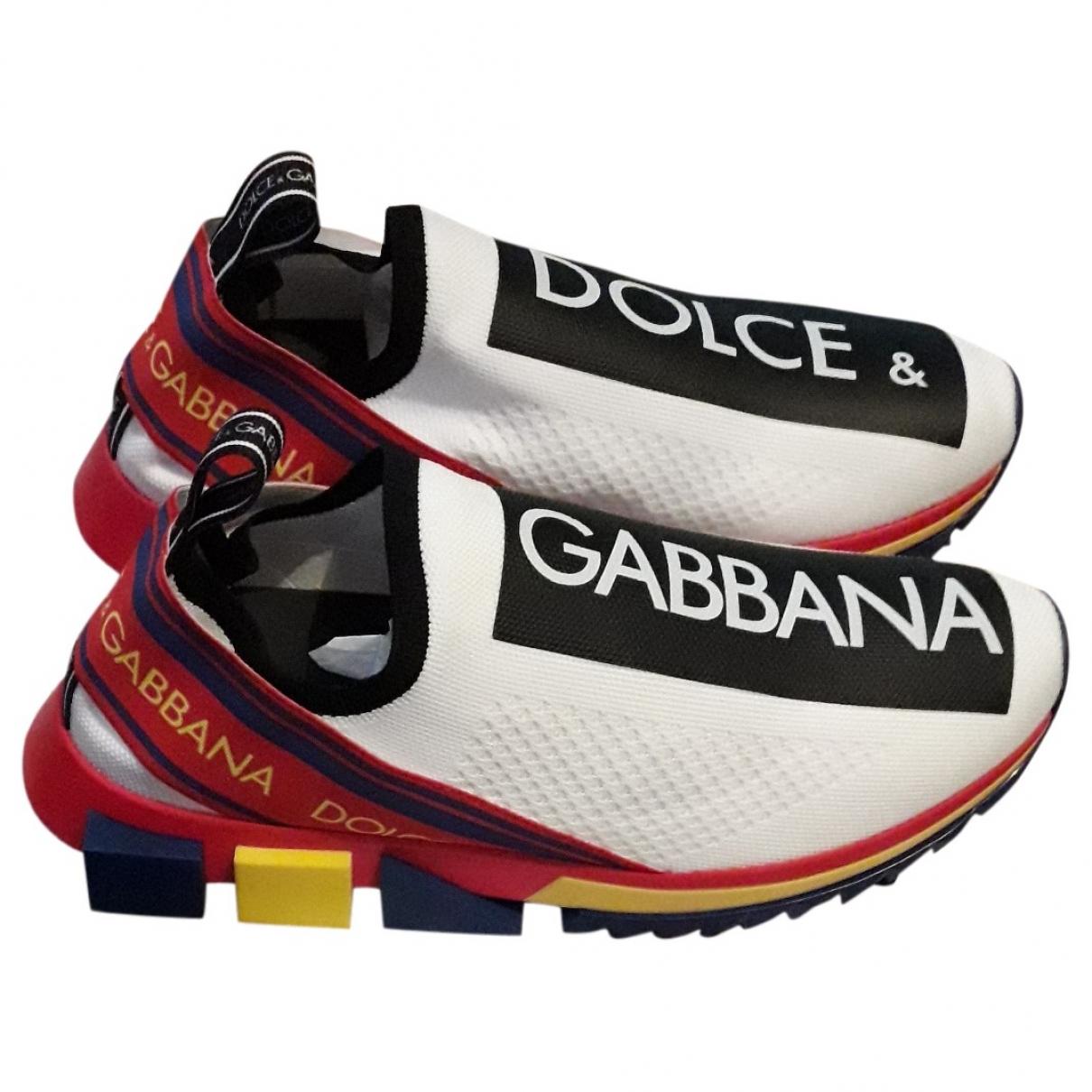 Dolce & Gabbana Sorrento White Cloth Trainers for Men 43 EU