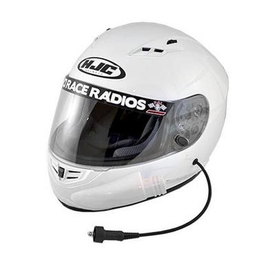 PCI Race Radios HJC CS-R3 Playcar RaceAir DOT Helmet, Medium (White) - 2428