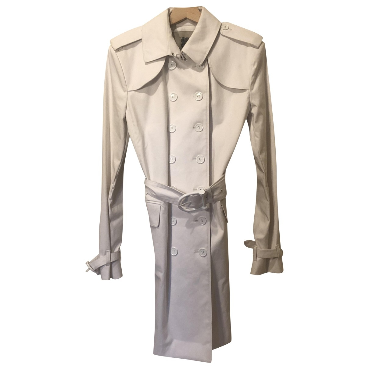 Burberry \N White Cotton coat for Women 14 UK
