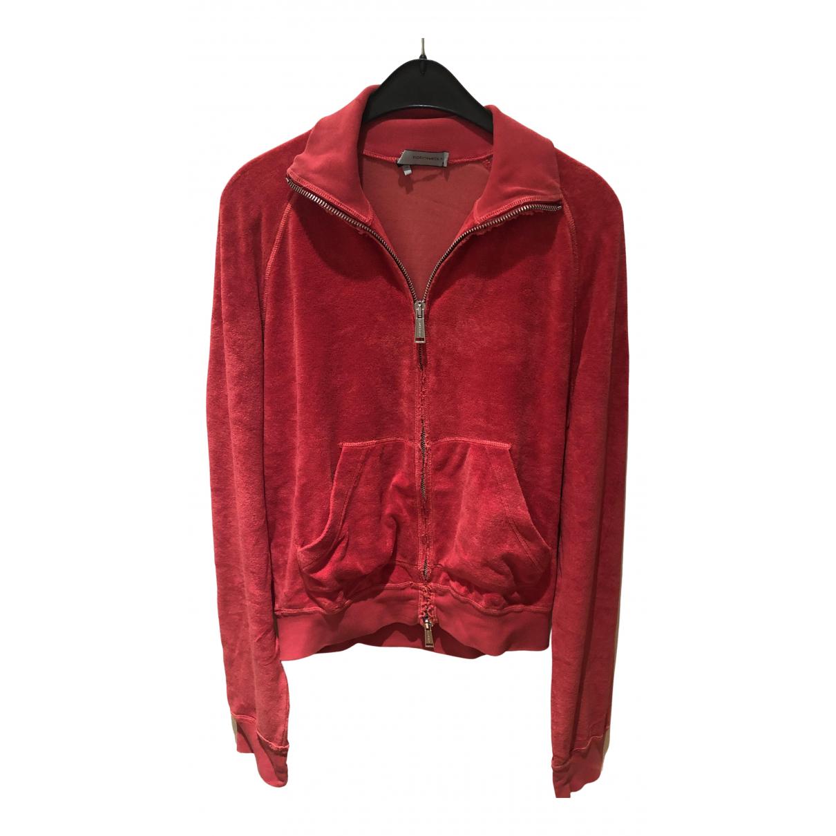 Dsquared2 \N Pullover.Westen.Sweatshirts  in  Rot Baumwolle
