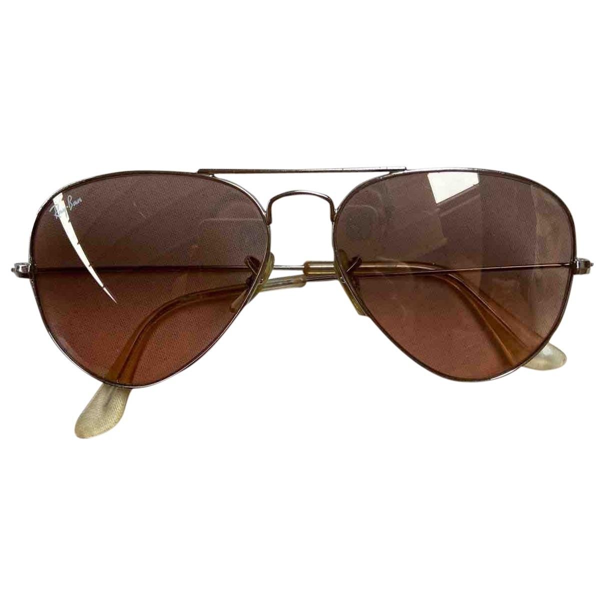 Ray-ban Aviator Sonnenbrillen in  Silber Metall
