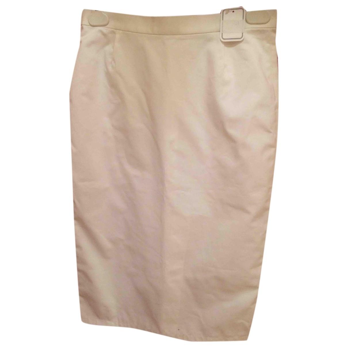 Agnès B. \N White Cotton skirt for Women 36 FR