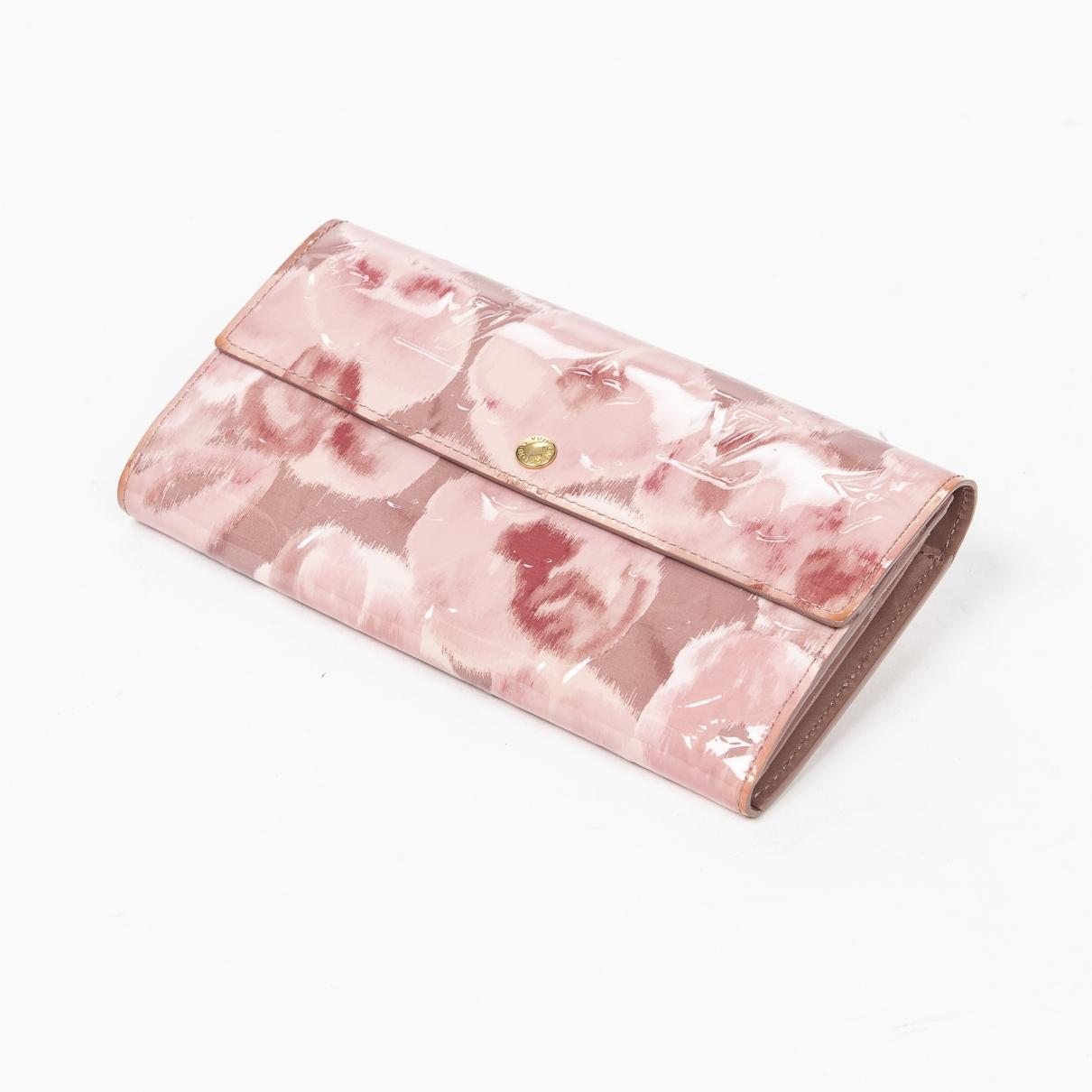 Louis Vuitton - Portefeuille   pour femme en cuir - rose