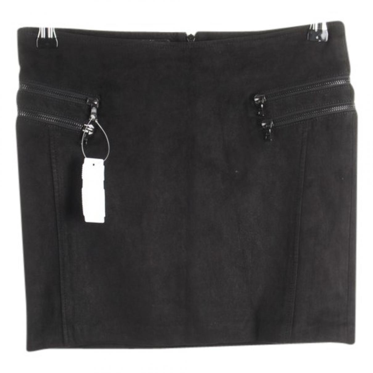 Drome - Jupe   pour femme en cuir - noir