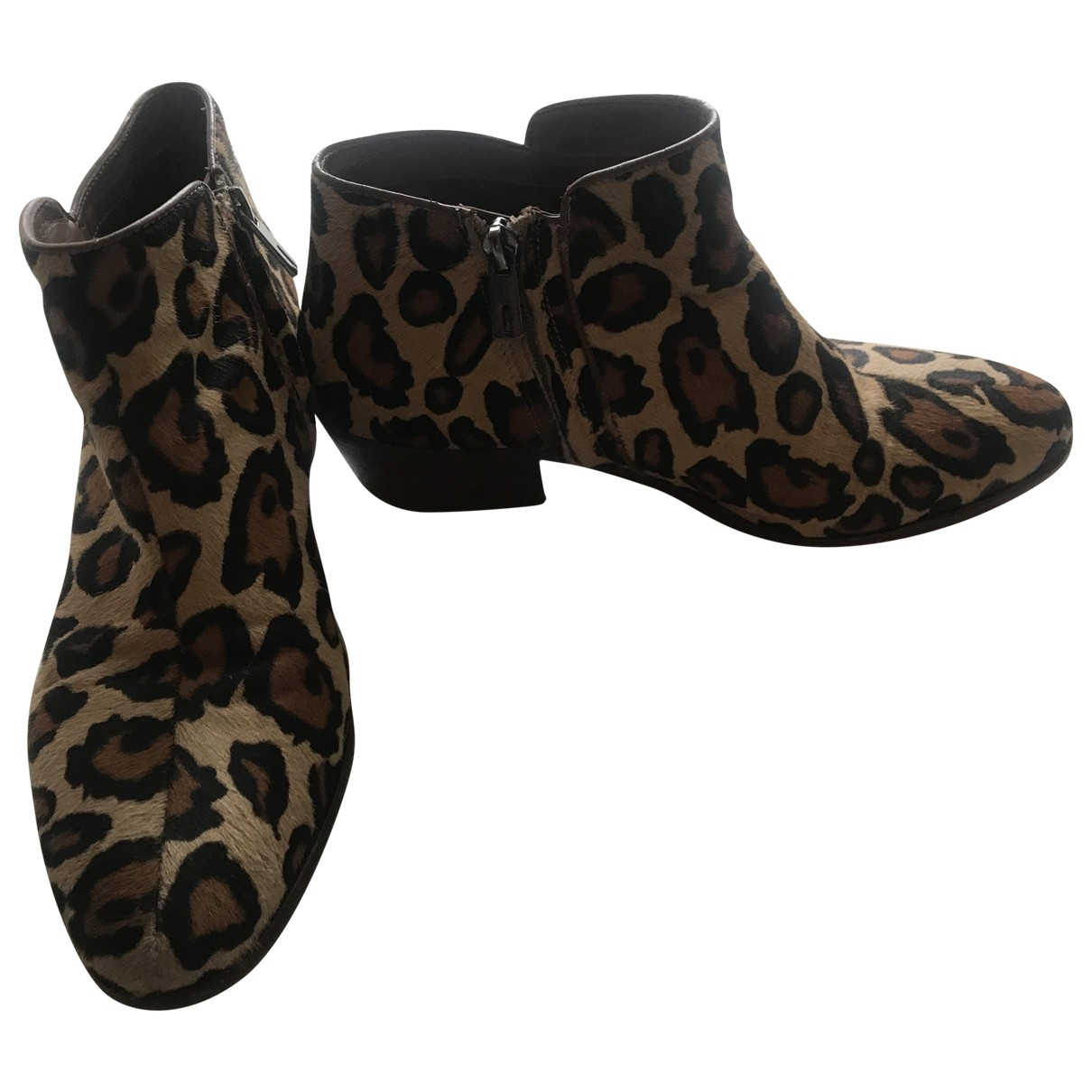Sam Edelman \N Brown Pony-style calfskin Ankle boots for Women 40 EU