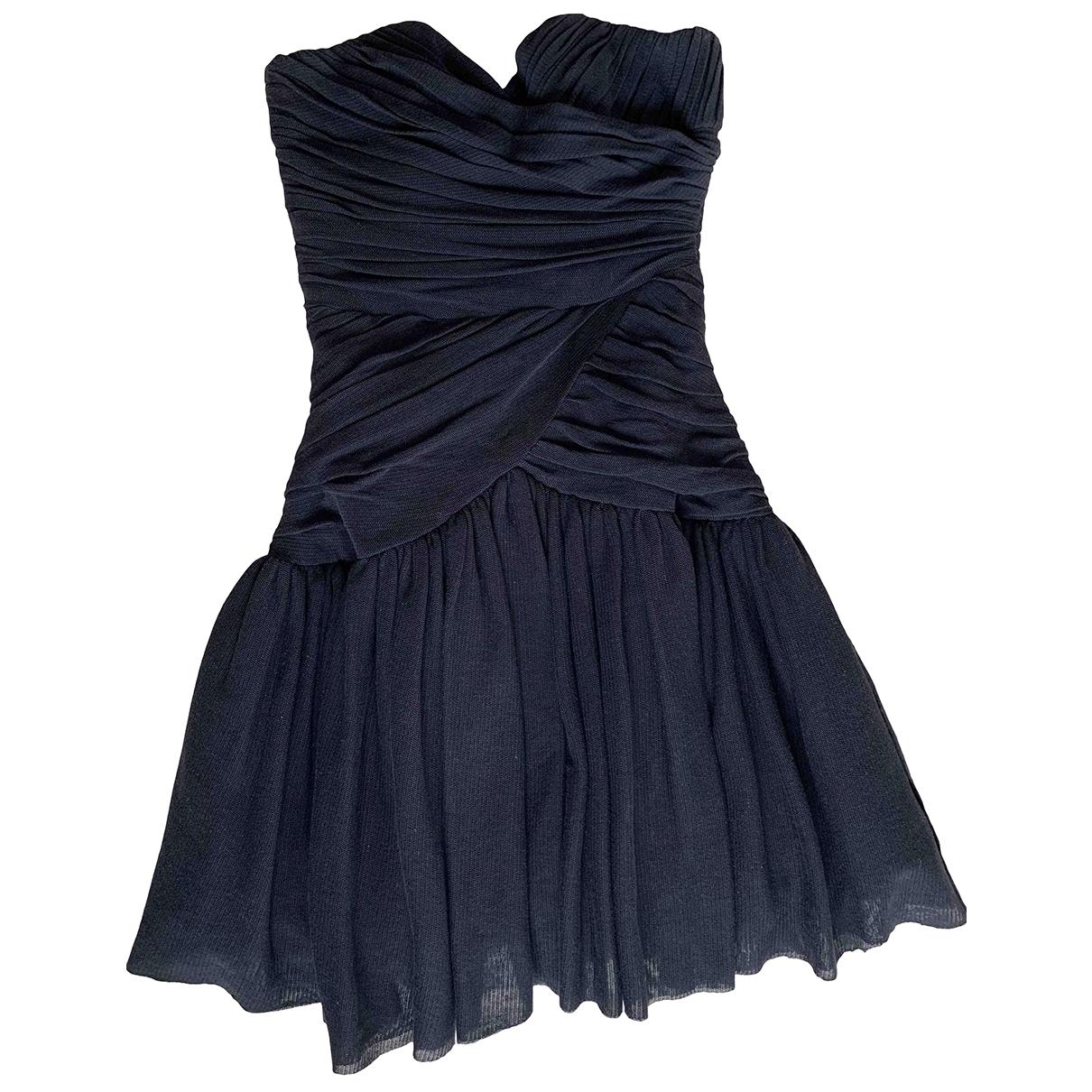 Tara Jarmon \N Black Cotton - elasthane dress for Women 34 FR