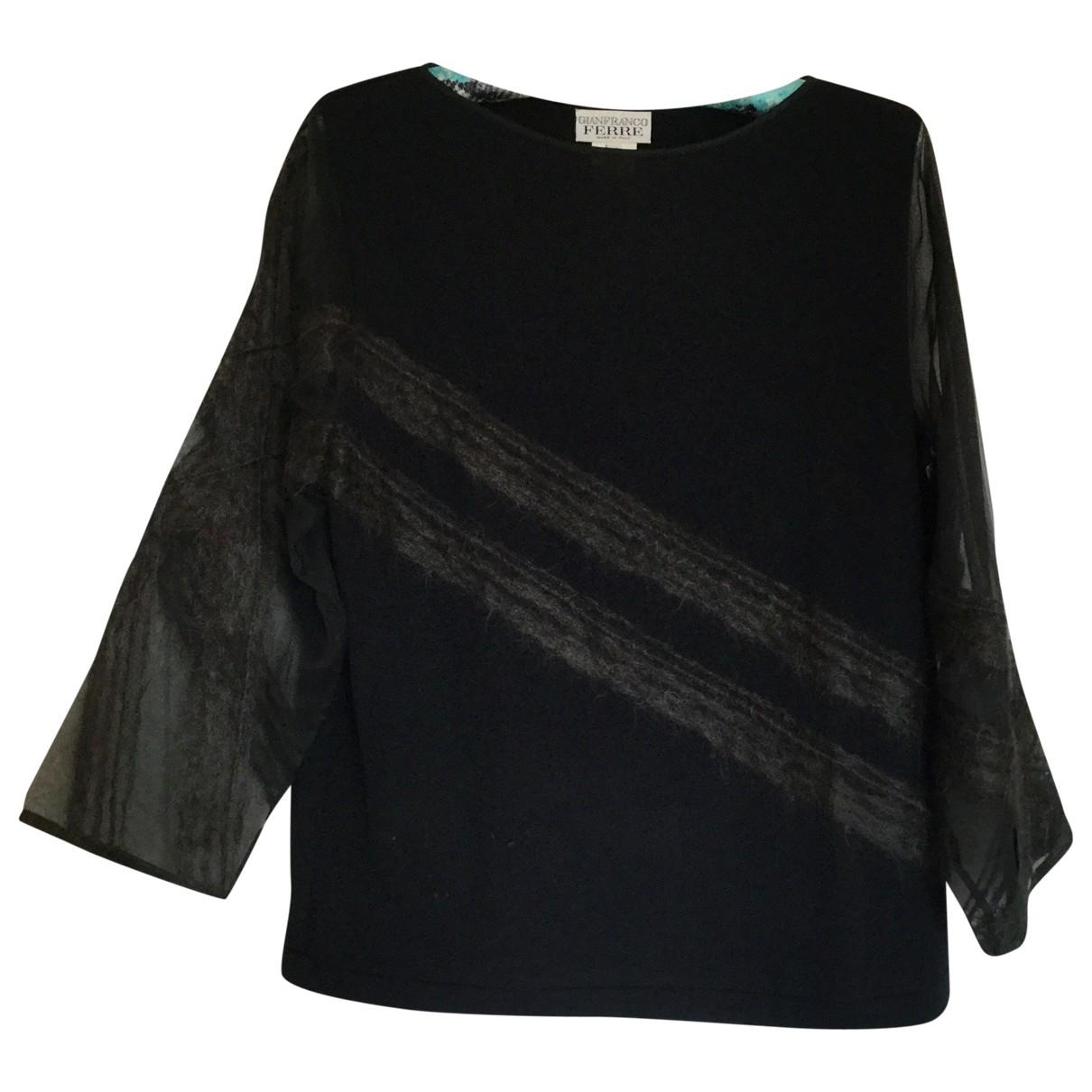 Gianfranco Ferre \N Pullover in  Schwarz Wolle