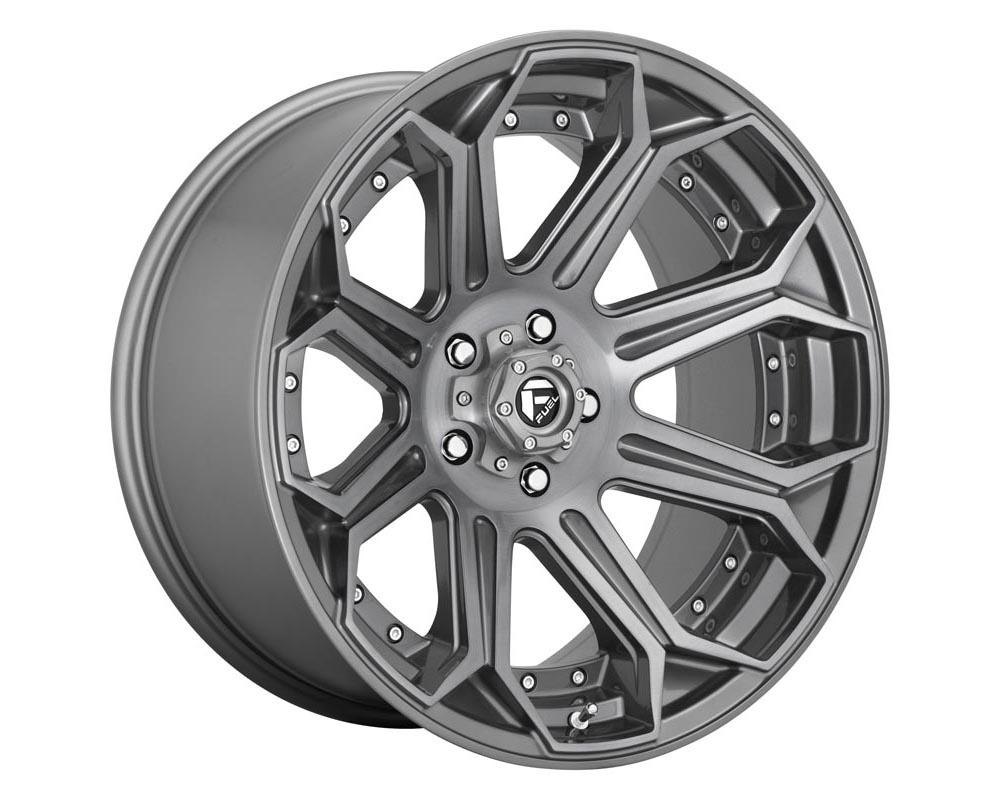 Fuel D705 Siege Wheel 22x12 5x5.0 -44 Brushed Gunmetal Tinted Clear