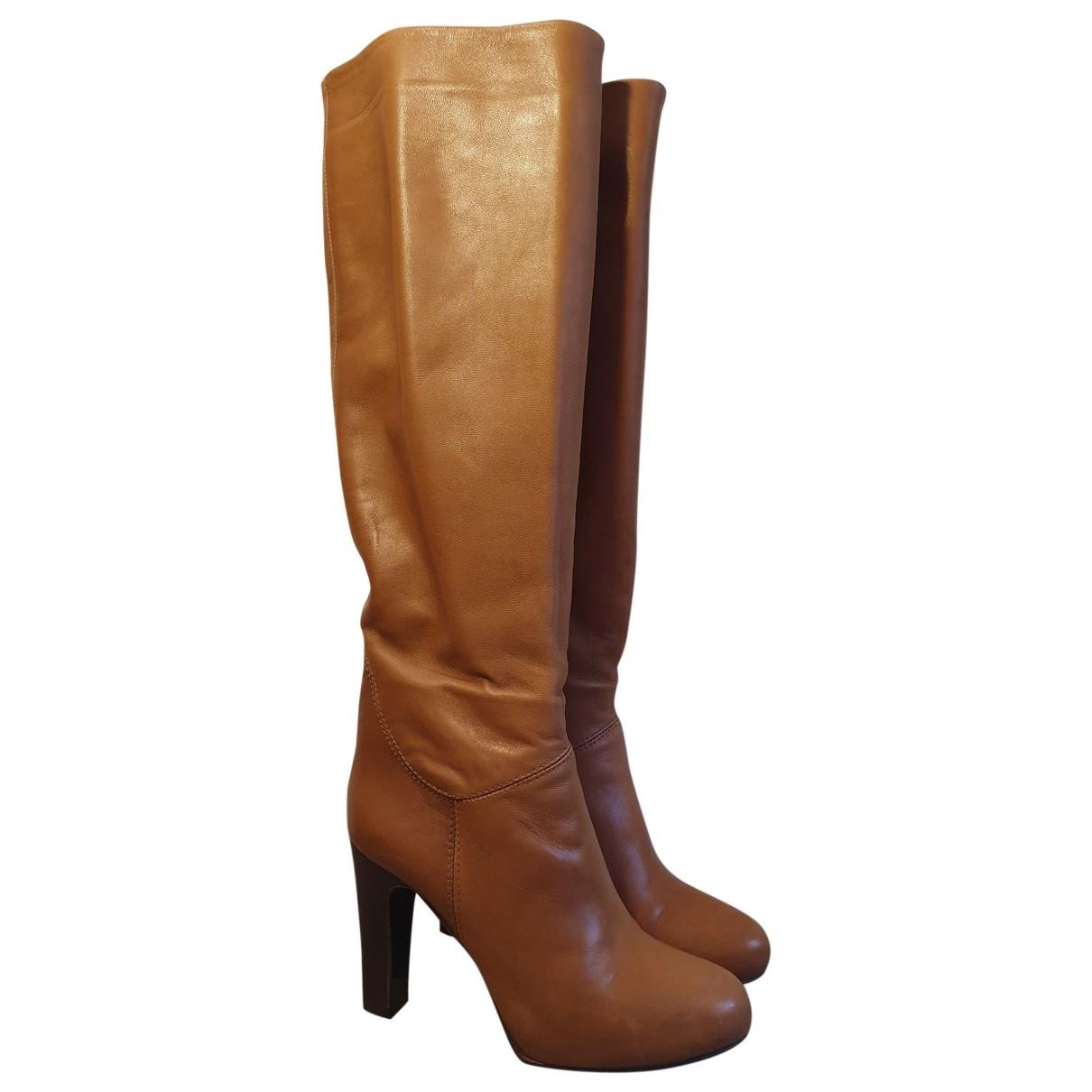Marella - Bottes   pour femme en cuir - marron
